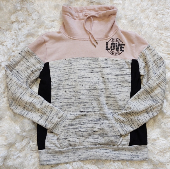flirtitude Tops - Love Pink grey black hoodie sz xs